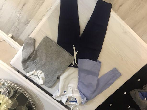 Zestaw ubranek dla chlopca r. 80- koszula,spodnie,kurtka,bluzka mayora