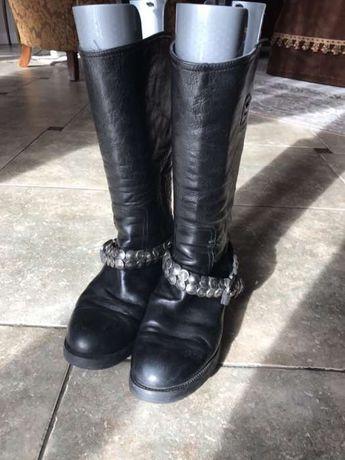 Buty skórzane wysokie VENEZIA