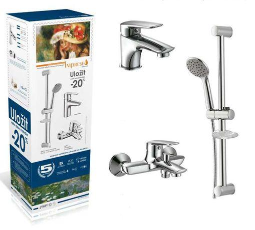 Набор смесителей для ванной комнаты Imprese Praha New (0510030670)