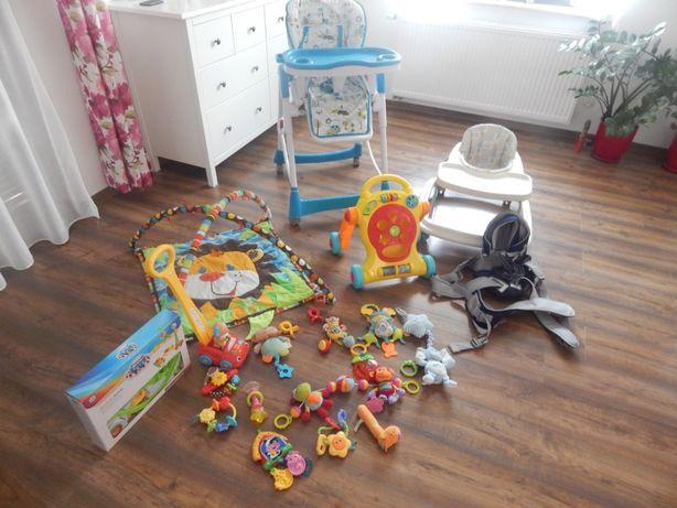 Chodaczek, krzesełko, pchacz, nosidełko i inne zabawki dla dzieci