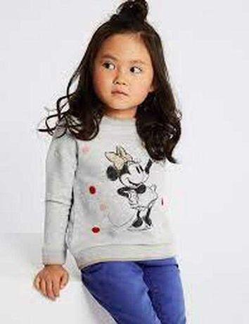 Marks & spencer отличный свитшот с минни . 6-7 лет