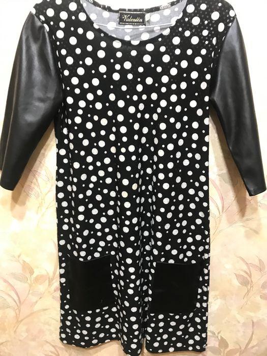 ПлатьеЧёрные в белый горошек Раздельная - изображение 1