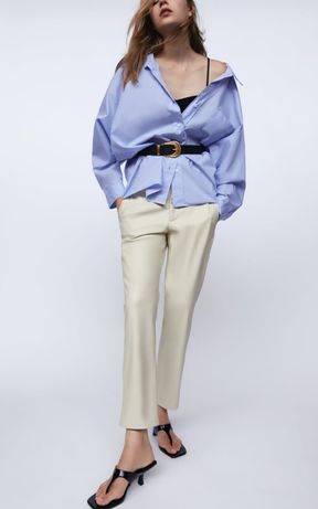 Штани  з еко шкіри Zara,шкіряні штани Zara Zara штани