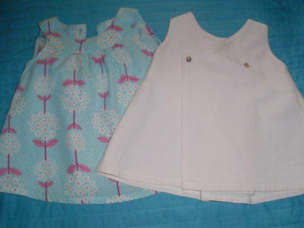 Vestidos laranjinha e H&M - 3M e 2-4M