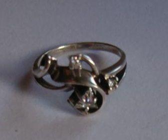 Кольцо р.16,5 серебро 925