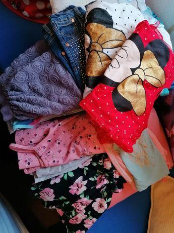 ubrania dla dziewczynki 110/116