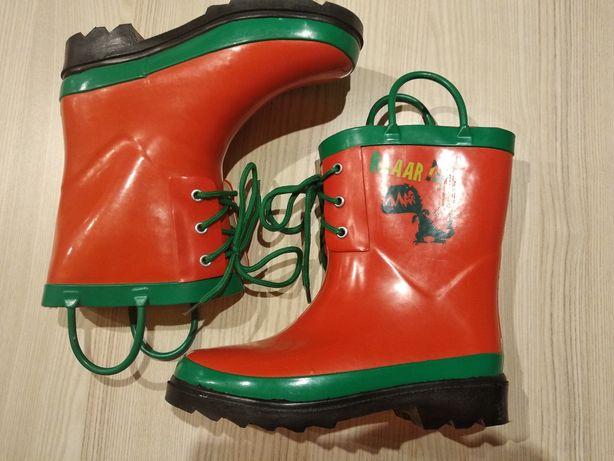 Jak nowe - kalosze buty ocieplane + uchwyty / porządne, wodoodporne