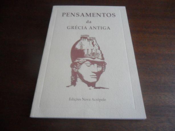 """""""Pensamentos da Grécia Antiga"""" de Vários - 1ª Edição de 1993"""