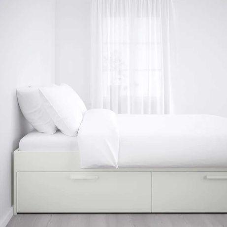 Cama com Arrumação - Ikea - Branca - 140 x 200 - URGENTE!!!