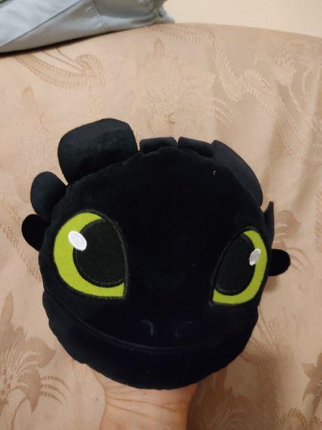 """Мягкая игрушка - мини подушка """"дракон Беззубик"""""""