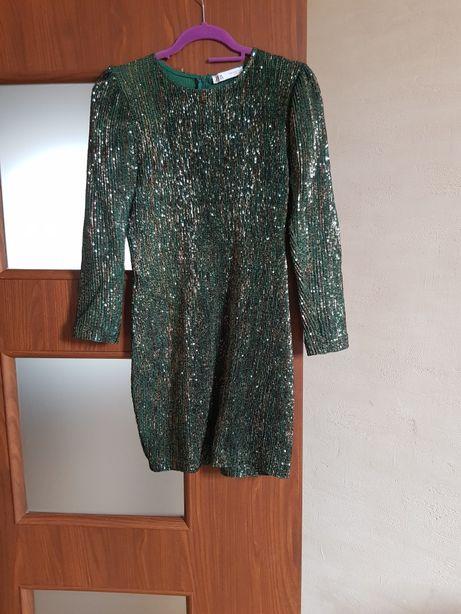 Cekinowa sukienka Zara