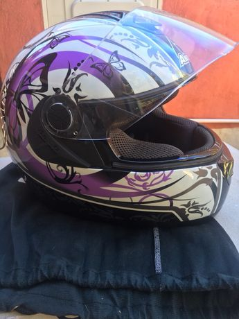 Capacete Airoh Aster-X Butterfly Violet Gloss
