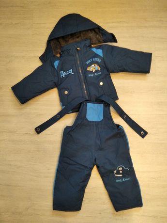 Зимний комбинезон+куртка на 6,9,12 мес. рост 68-80 см