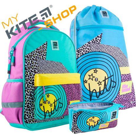 Школьный комплект 3в1 КАЙТ KITE Рюкзак сумка пенал для девочки