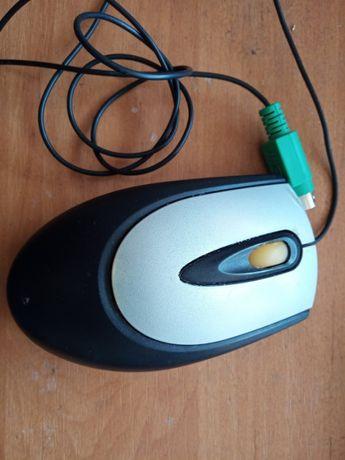 Мышка компьютерная black (оптическая, PS/2)
