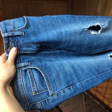 Jeansy dżinsy vintage Lee 25/31 z dziurami