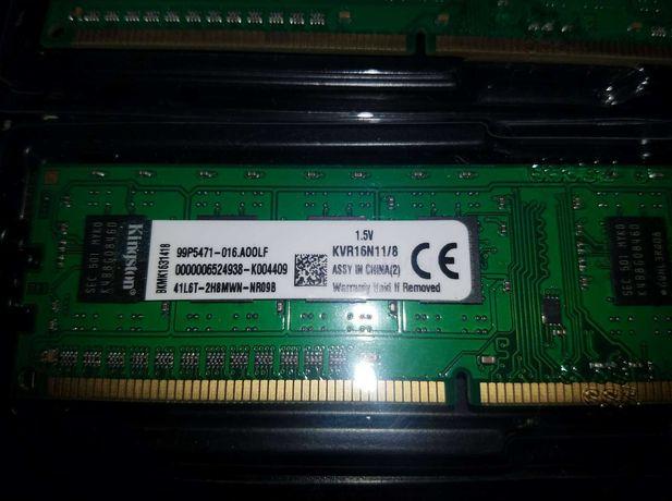 Память  Kingston ОЗУ DDR-3  по 8 GB (1600 MHz)