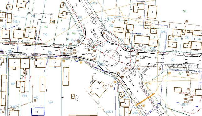 Geodezja - mapa do celów projektowych pod gaz  i inne