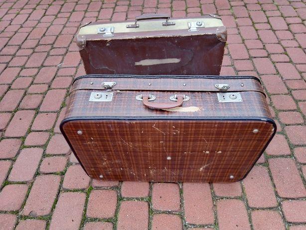 antyk walizka PRL 60x40x17cm / 2szt/ 1960r