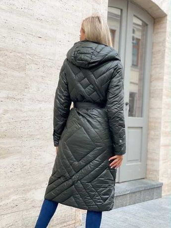 Пальто длинное женское