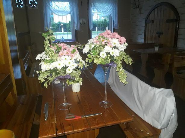Szkła na kwiaty dekoracje