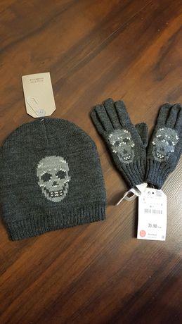 ZARA chłopięcy zestaw czapka + rękawiczki