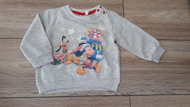 bluza świąteczna mickey mouse/myszka miki 68