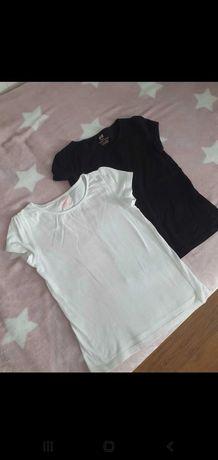 Koszulki H&M 110-116  2 szt
