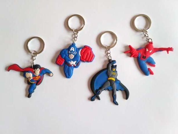 Porta-chaves super-heróis batman superman capitão américa spiderman