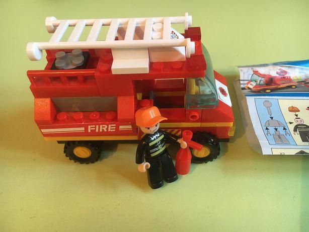 Лего конструктор пожарная машина гонка гоночная машина набор