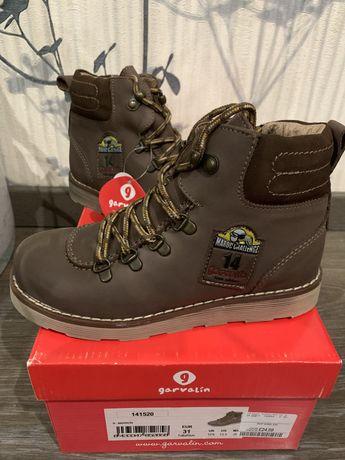 Дитячі шкіряні боти garvalin 31 розмір для хлопчика / черевики ботинки