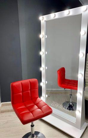 Зеркало в полный рост, зеркало 180/80, с лампочками, с подсветкой