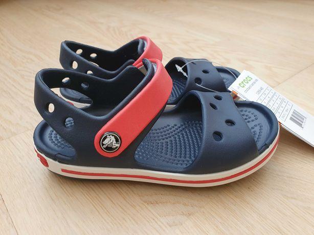 Новые сандалии crocs c9 кроксы с9 босоножки размер 25-26