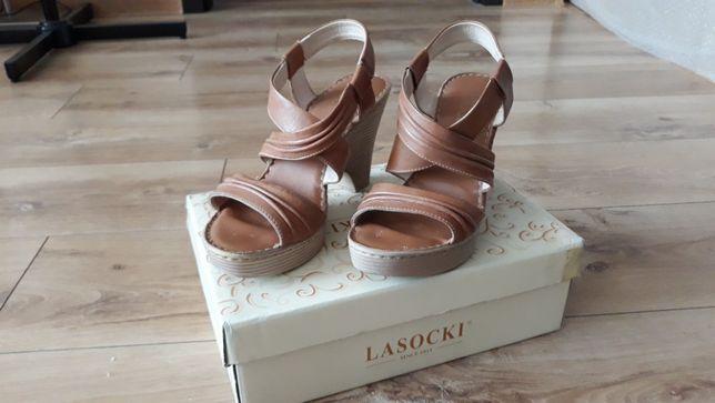 Sandały na koturnie Lasocki r. 38