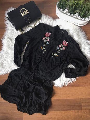 Sukienka hafty  kwiaty S/M