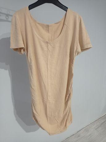 Beżowa bluzka z krótkim rękawem