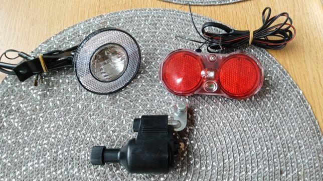 Oświetlenie rowerowe komplet dynamo