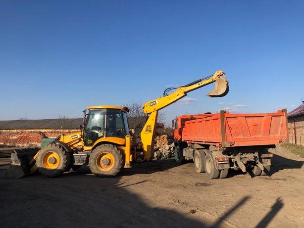 Послуги екскаватора, бульдозера, вантажні перевезення від 5 до 22 тонн