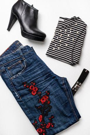 Roupa (calças marca Zara, Top marca Mango, Botins Seaside)