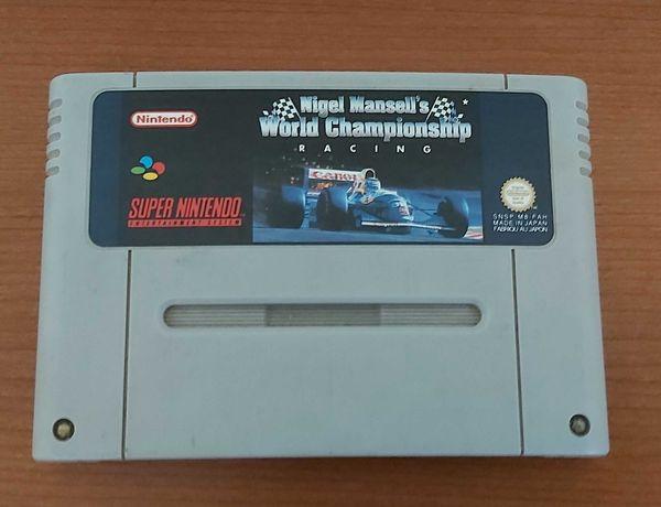 Jogo Nigel Mansell Super Nintendo SNES