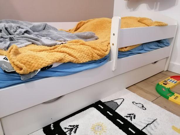 Łóżko dziecięce łóżeczko barierka szuflada bez materaca 160x80
