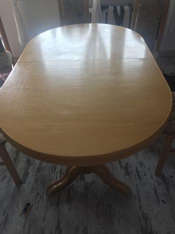Stóła debowy  z szescioma krzeslami dobra CENA