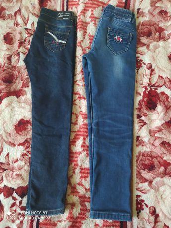 Теплые джинсы на мальчика 9-11 лет