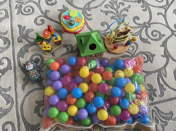 Шарики в бассейн сортер ikea ключик деревянные игрушки лабиринт