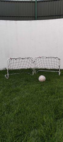 Balizas de futebol, promoção, treino, relva