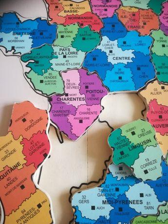 Карта пазлы Франции