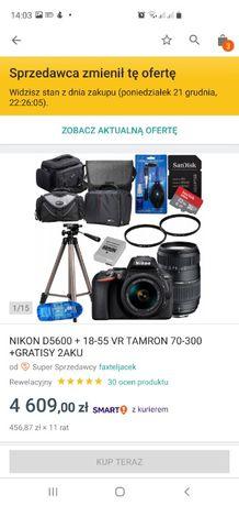 Nikon D5600 + Wiele dodatków