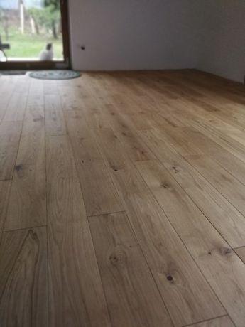 Podłoga drewniana, Deska warstwowa dębowa - 12x160 mm Rustic