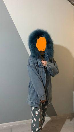 Джинсова курточка, тепла