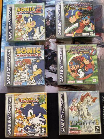 Conjunto de 6 jogos completos de Gameboy Advance